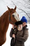 Cavallo nella neve 7