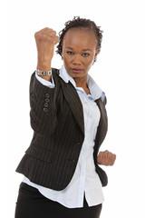 femme d'affaires noire combat