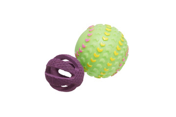 Two toys for dogs. Balls.