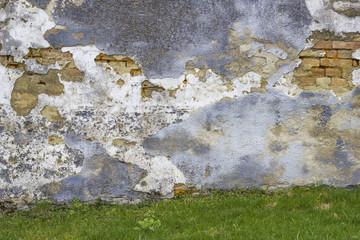 Alte Mauer mit Wiese