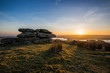 Bodmin Moor, Treggarick Tor sunset, cornwall, uk - 78013622