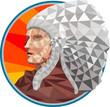 Native American Indian Chief Warrior Low Polygon