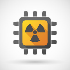 CPU icon with a radioactivity sign