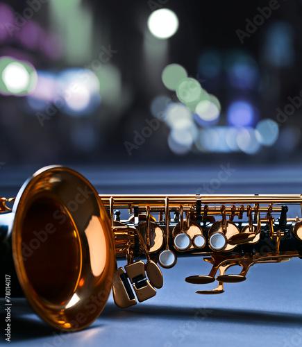 Fotobehang Muziekwinkel saxophone