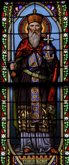 Emperor Charlemagne, stain glass window