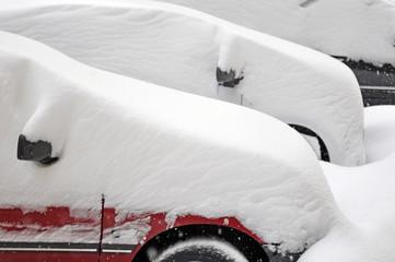 wintereinbruch, pkw, schneefall