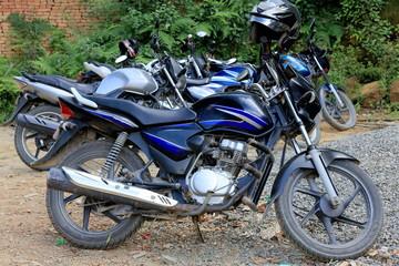 Motorbike parking. Namo Buddha-Nepal. 1025