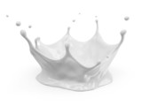 Milk Crown Splash isolated on white background