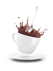 Cup of Hot Chocolate with Crown Splash