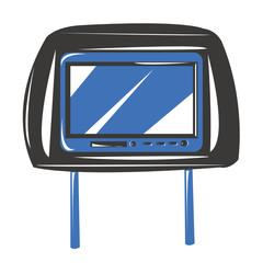 Poggiatesta multimediale con display automobile