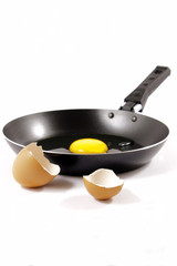 Skillet and egg without frying