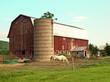 Obrazy na płótnie, fototapety, zdjęcia, fotoobrazy drukowane : horse and barn