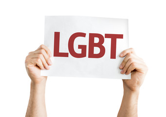 LGBT card isolated on white background
