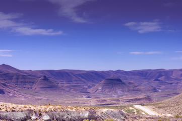 purple buttes in Guadalupe Mountains National Parks