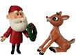 santa and rudolph - 78017288