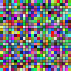 Colorful mosaic squares