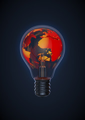 Earth bulb red