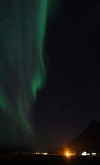 Aurora borealis or the northern lights