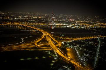 Brigittenauer Brücke Wien Nacht