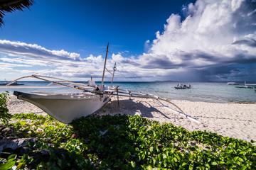 Boat at Pamilacan Beach at Philippines