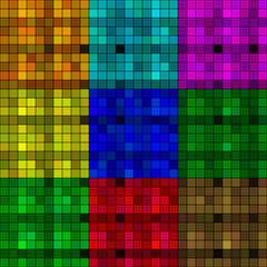 Many-colored mosaic (9 square)