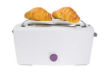 Croissants are baked in a toaster. For breakfast.