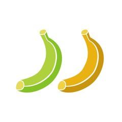 Icono Fruta_Plátano verde y maduro COLOR