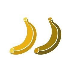 Icono Fruta_Plátanos maduro y pasado