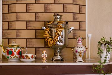 Samovar with cups