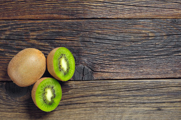 Kiwi fruit with half