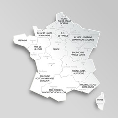 Carte de France 13 régions
