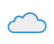 canvas print picture - blue blank cloud