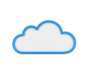 blue blank cloud