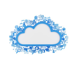 cloud with icons