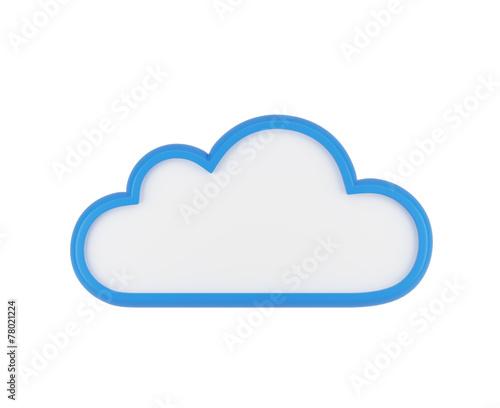 Zdjęcia na płótnie, fototapety, obrazy : blue blank cloud