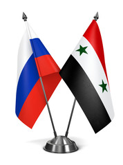 Russia and Syria - Miniature Flags.