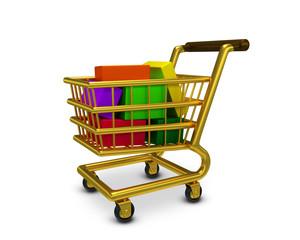Einkaufswagen Gold Waren