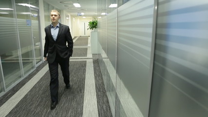 Man goes to office