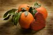 canvas print picture - Appelsiner på jakt etter ekte kjærlighet