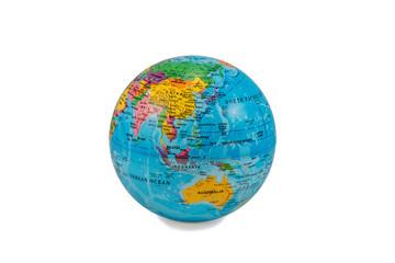 Globes with Australia
