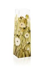 Empty square glass vase