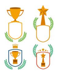 Trophy design, vector illustration.
