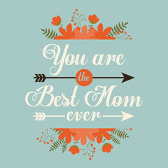 Happy mothers day card design, vector illustration.