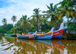 Indian fishing boats  in Kerala - 78023628