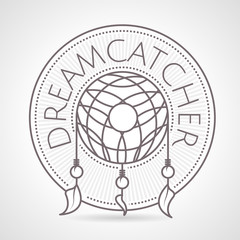 Abstract vector illustration of dreams catcher