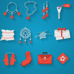 Flat icons collection for handmade items