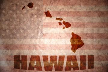 Vintage hawaii map