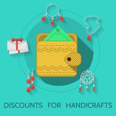 Flat design illustration of handicraft
