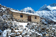 Stone cabin in the mountain, Nepal Himalaya - 78024044