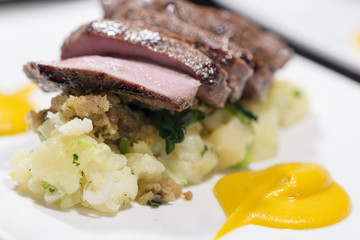 Meats - Roasted Saddle Of Wild Boar With Potatoes